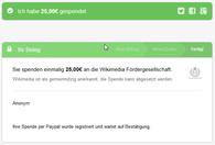Wikipedia Spendenbestätigung